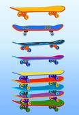 Set of skateboards — Stock Vector