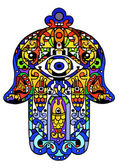 Jewish sacred amulet — Stock Vector