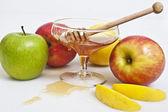 Frukter för rosh hashana — Stockfoto