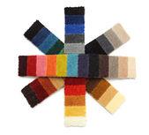Proben von teppich - schneeflocken — Stockfoto
