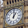 Clock on the tower of big Ben — Stock Photo