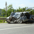 Car after the accident — Stock Photo