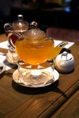 Tea heated candle — Stockfoto