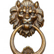 Handle with the head of a lion — Stock Photo
