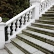 Stock Photo: White plaster railings