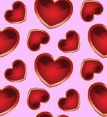 Seamless background with hearts_2 — Vettoriale Stock