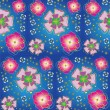 Seamless background with stylized flowers - Stok Vektr