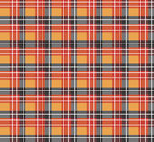 Orange plaid fabric — Stock Vector