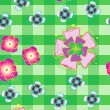 Seamless background with stylized flowers_2 - Stok Vektr