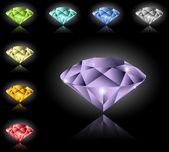 Jewels and diamonds set — Stock Vector