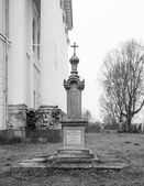 Monument at the grave of Dr. E.V.Lvova at Church of the Resurrection — Stock Photo
