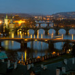 Charles Bridge in the Prague - Stock Photo