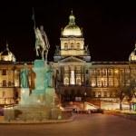 National Museum on Wenceslas Square in Prague — Stock Photo