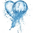 Heart from water splash with bubbles — Stock Photo #15559153