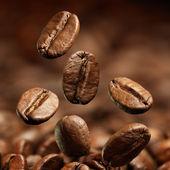 咖啡豆的特写 — 图库照片