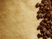 Coffee beans on paper — Foto de Stock