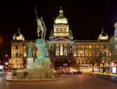 National Museum on Wenceslas Square in Prague — Stok fotoğraf