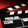 Stock Photo: Clapper board