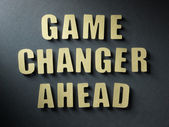 The word Game Changer Ahead on paper background — Stock Photo