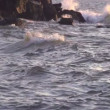 Stock Video: Slow motion. waves from sea.