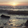 Stock Video: Beautiful sunset above the sea