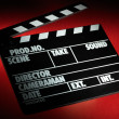 Clapper board — Stock Photo