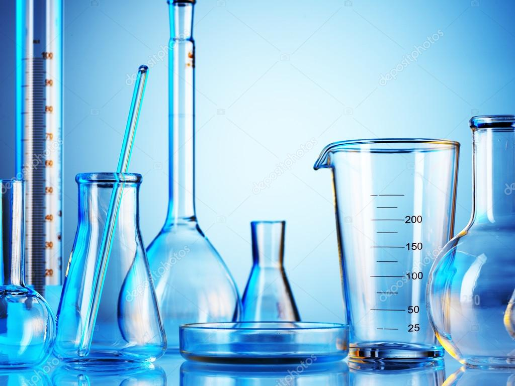 Chemical Laboratory Wallpaper Laboratory Glassware on Color
