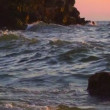 The waves from the sea. — Vídeo de stock
