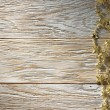 Stock Photo: Christmas decoration on wood texture. background old panels