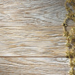 Christmas decoration on wood texture. background old panels — Stock Photo