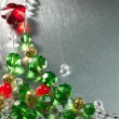 Christmas tree from color beads — Stock Photo #37158735