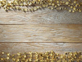Christmas decoration on wood texture. background old panels — Stock Photo