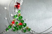 Christmas tree from color beads — Stock fotografie
