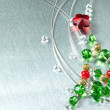 Christmas tree from color beads — Stock Photo