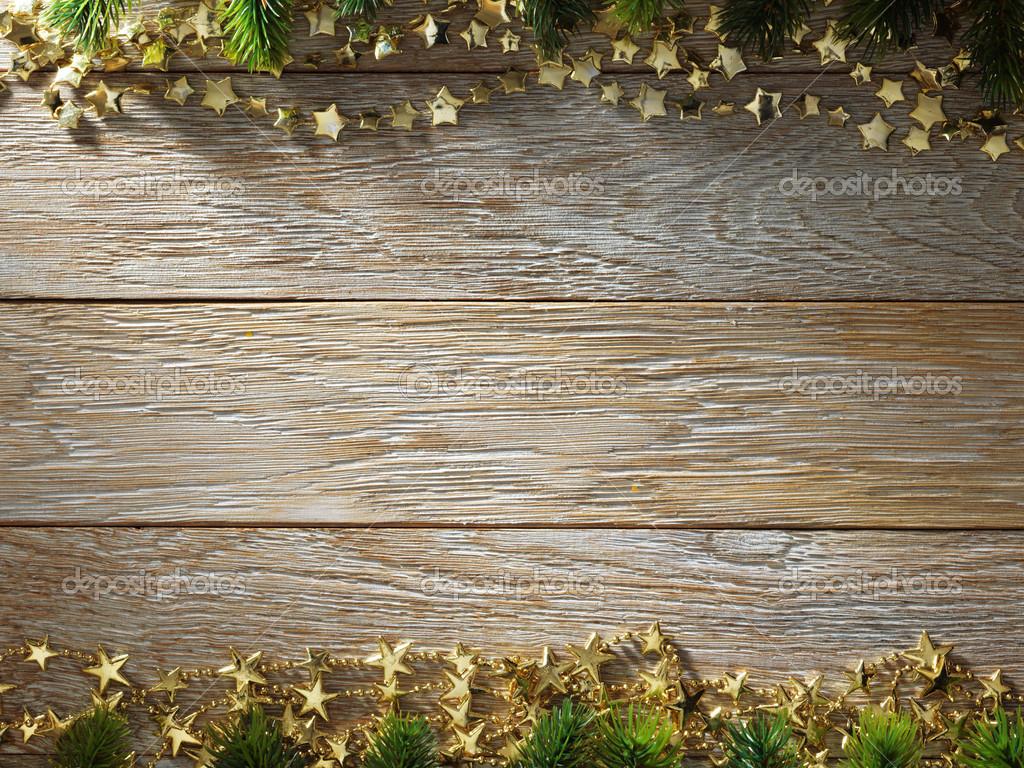 Download - Christmas fir tree on wood texture — Stock Image ...