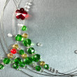Stock Photo: Christmas tree from color beads