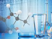 Cristalería de laboratorio — Foto de Stock