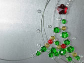 Christmas tree from color beads — 图库照片