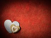 Wakacje karty z serca — Zdjęcie stockowe