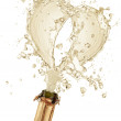 Explosion of champagne — Stock Photo