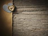 Carta vacanze con cuore — Foto Stock