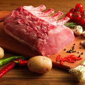 Biff med grönsaker — Stockfoto