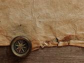 Stary kompas na tło — Zdjęcie stockowe