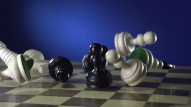 Chess figures — Stockvideo