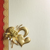 Holidays card with heart — Stock Photo