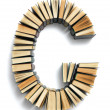 Letter G formed from the page ends of books — Stockfoto #49362751