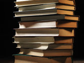 Pile of hardcover books — Stock Photo