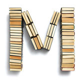 Letter M formed from books — Stock Photo