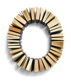 Letter O formed from books — Stock Photo