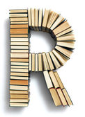Letter R formed from books — Stock Photo